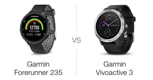 Garmin Forerunner 235 vs Vivoactive 3 Comparison - WearVS
